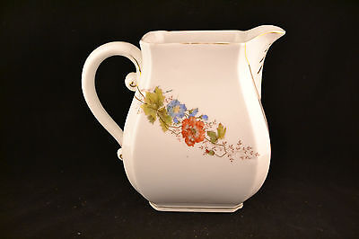 Antique Ironstone pitcher transfer and hand painted design  ND687