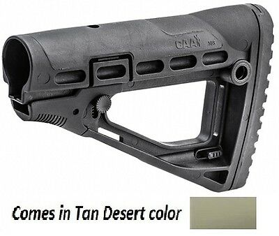 SBS-S CAA Tactical Tan Desert Polymer Skeleton Style Collapsible Stock