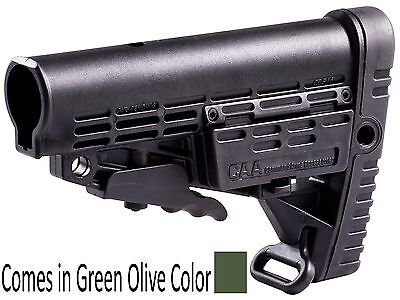 CBS-S CAA Tactical Green Collapsible Commercial Spec Buttstock Made of Polymer