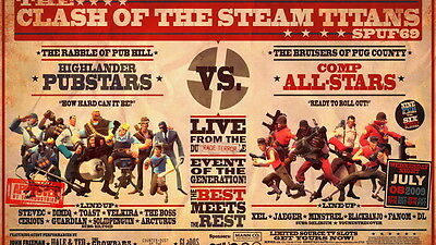 """005 Team Fortress Classic - Video Shooting Game 25""""x14"""" Poster"""
