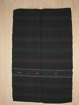 Antique Hand Embroidered Hand Woven Folk costume Apron Fabric