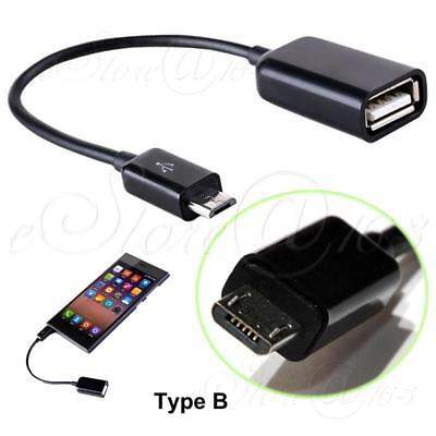 1x USB  Female A to Micro USB B Host OTG Data Charger Cable For Phone Tablets_B
