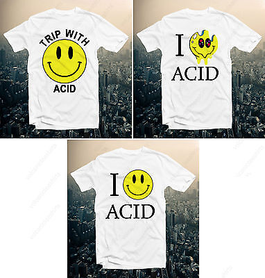 Smiley Face Acid Smile Rave Fun Funny House Party Retro Happy Techno Funky 80S