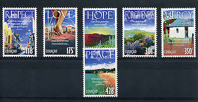 Curacao 2013 MNH Virtues 6v Set Respect Love Hope Mercy Peace Forgiveness