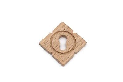 Keyhole Cover Plates Wood Escutcheons For Antique Victorian Furniture Oak Wood