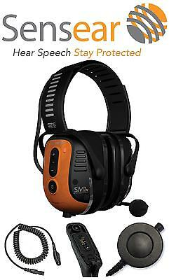 Sensear Sm1X Smart Muff Noise Cancelling Ear Protection Bluetooth Phone & Radio
