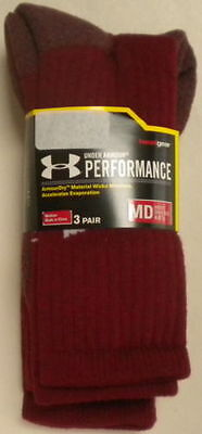 3 Pair Under Armour Performance Ignite Running Crew Socks Medium  Men's  Women's