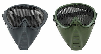 Wire Mesh Airsoft Tactical Face Mask Goggles - Prevents BB Injury from Gun