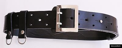 Real Nato 100% Natural Leather Military Army Police Gun Holster Bullhide Belt