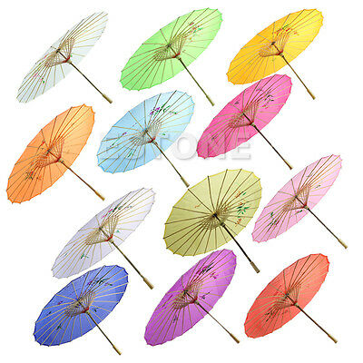 Grace Japanese Chinese Umbrella Art Deco Painted Parasol For Wedding Dance Party