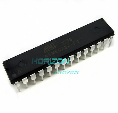 5PCS ATMEGA32A-PU MCU AVR 32K FLASH 16MHZ 40-PDIP NEW GOOD QUALITY