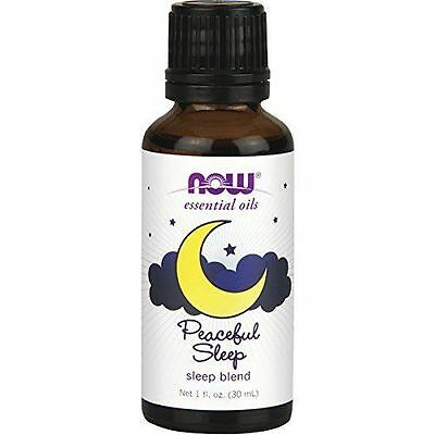 NOW FOODS Peaceful Sleep Essential Oil Blend 1 fl oz for Diffusers & Burners