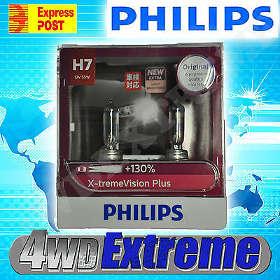 New Model Philips +130% H7 Xtreme Vision Plus Pair Of Globes 12V 55W Upgrade