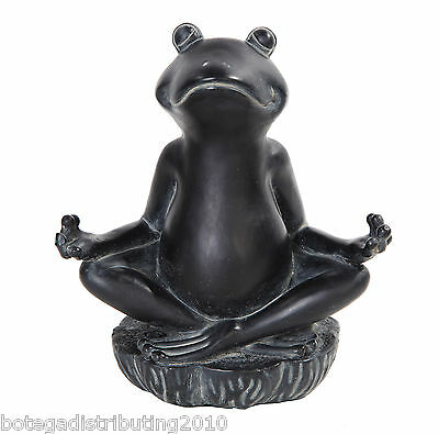Zen Frog Meditating Statue Buddha Eastern Enlightenment Figurine