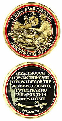 Psalms 23 / I Will Fear No Evil Challenge Coin 2439