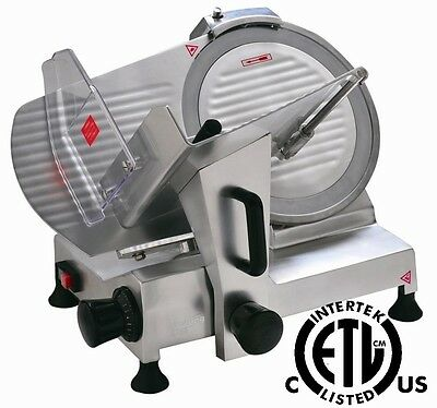 "New Meat Slicer 8"" Blade Commercial Deli Meat Cheese Food Slicer HBS-195J"