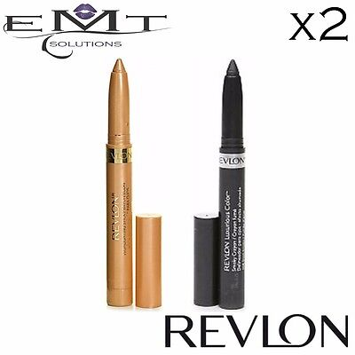 Revlon Highlighting Stick - Golden & Revlon Crayon Eye Liner - Steel Smoke 008