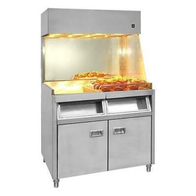 Heated Fry / Chip Station, Freestanding, Stainless Steel, Commercial Kitchen