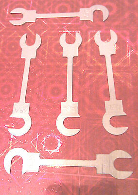SPANNER FUSE 55mm LONG 45amp FLAT FUSES PACKET OF 5