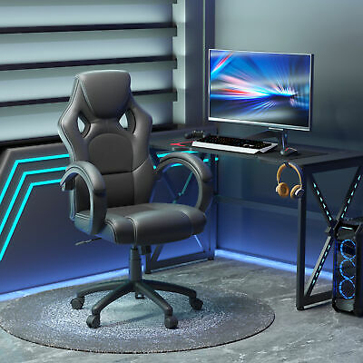 """46.5"""" Rac Car Style Office Gaming Chair Hydraulic Computer Chair"""