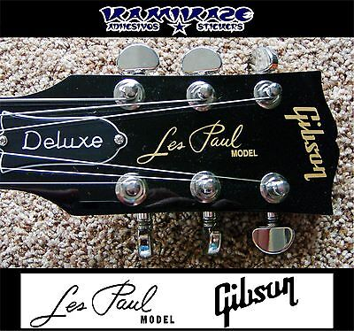 Pegatina Sticker Adesivi  Decal Gibson Les Paul Model  Headstock Guitar Guitarra