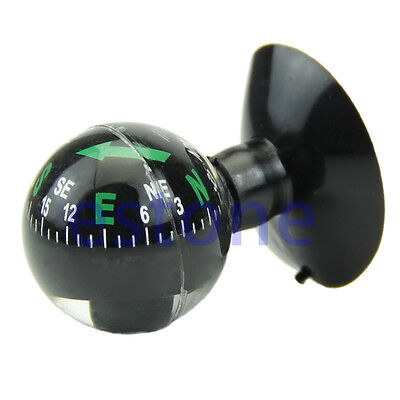 New Navigation Compass Ball Mini Flexible Dashboard Suction Cup Car Boat Vehicle