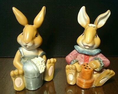 "Garden Bunnies x 2 Regency Fine Arts ""Tale of the warren"""