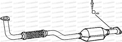 Daewoo Matiz 0.8 F8Cv Hatchback 00-01 Exhaust Catalytic Converter Part