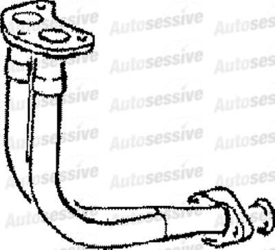 Ford Escort Xr3I 1.6 Mfi Hatchback Cabrio 83-90 Front Pipe Replacement Exhaust