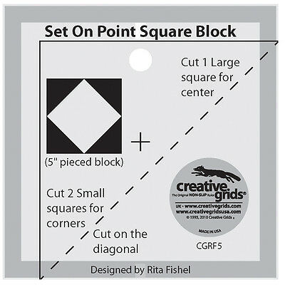 Creative Grids Set on Point Square Template Sewing and Quilting Ruler