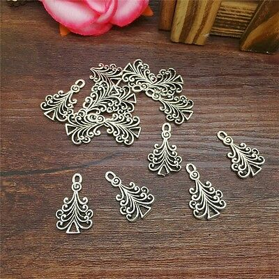 New Charm 10pcs Wave Tree Tibet Silver Pendant Fit for Bracelet Necklace PJA21
