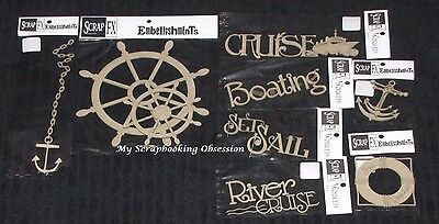 SCRAP FX Chipboard 'CRUISE & BOATING' Embellishments (Choose from 12) Travel