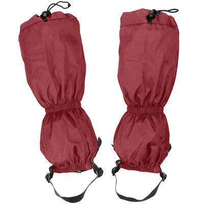 Highlander XTP Ripstop Walking Gaiters Waterproof Trekking Snow Boot Cover Red