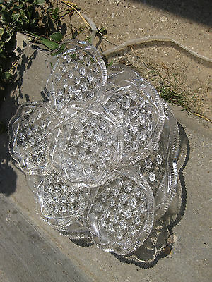 ANTIQUE GLASS SERVING TRAY WITH 6 MATCHING DISHES FOSTORIA AMERICAN BRILLIANT