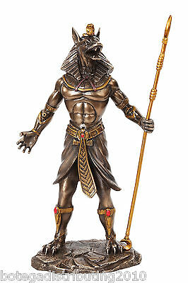 Modern Anubis Egyptian Statue Antique Color  Figurine God Of The Dead Funeral