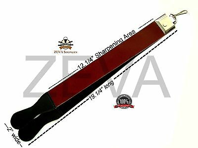 Professional New Leather Strop Strap Belt Barber Straight Edge Razor Sharpener