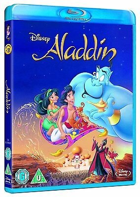 ALADDIN [Blu-ray Disc] Classic Disney Movie + Never Seen SPECIAL FEATURES