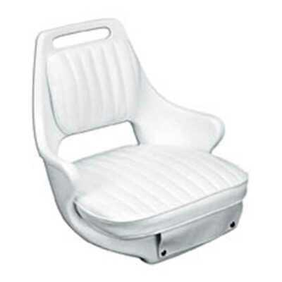 Moeller ST2071-HD White Boat Seat with Cushion Set & Mounting Marine