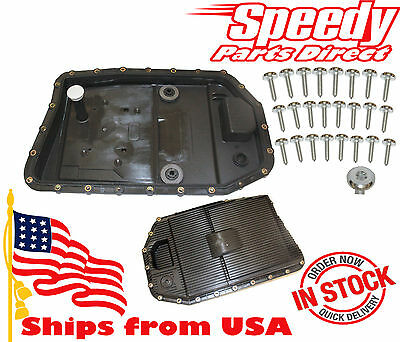 NEW BMW Automatic Transmission Oil Pan + Filter + Gasket + 24 Screws 24117536387