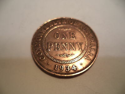 1934  KGV  PENNY Fine/Very Fine  RARE VERY OLD COLLECTION GREAT INVESTMENT