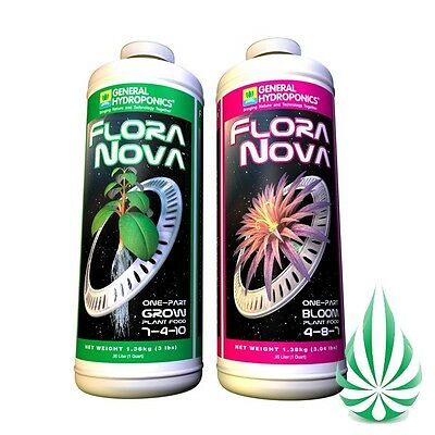 General Hydroponics FloraNova Bloom & FloraNova Grow Grow Nutrient 473ml Combo
