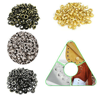 1000 4mm - 20mm Silver Gold Eyelets Grommets & Washers for Banners Vinyl Grommet
