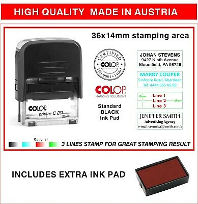 VERIFIED Self Inking Rubber Stamp Custom Colop Office P20 Mini Stamp|COLP-200