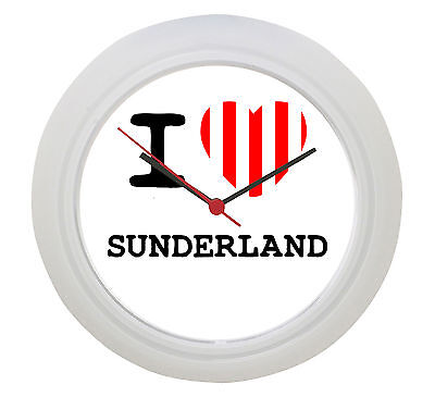 I LOVE SUNDERLAND Wall Clock!  Great Gift ! No wiring !