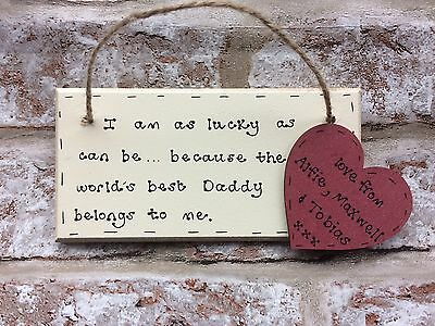 Christmas Gift For Dad Daddy Grandad Personalised Wooden Plaque Handmade