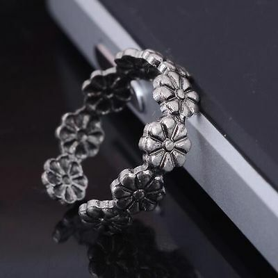 Sale Simple Retro Beauty Flower Design Adjustable Toe Joint Ring Foot Jewelry