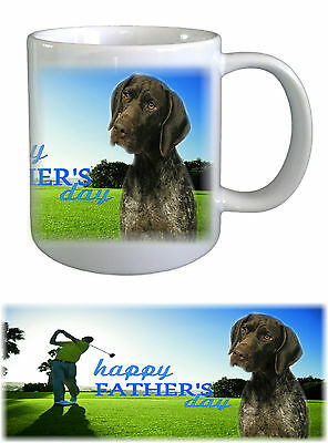 German Shorthaired Pointer Dog Fathers Day Ceramic Mug -1 by paws2print