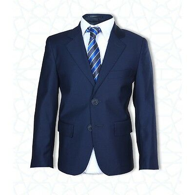 Boys Formal Dress Wear Navy Blue Suit Page Boy Wedding Prom Communion Boys Suits