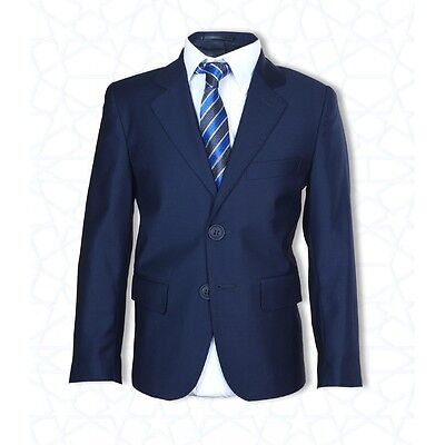 Boys Formal Navy Blue Suit 2 PC Page Boy Wedding Prom Communion Boys Suits
