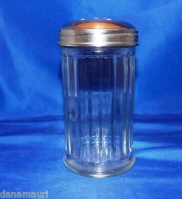 VINTAGE HALCO SUGAR or CHEESE SHAKER GLASS RESTRNT 50'S STYLE DINER KITCHEN CAFE